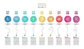 Moderne Aquarell-Label-Infografiken