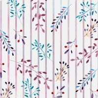 Aquarell Blumenmuster mit Streifen vektor