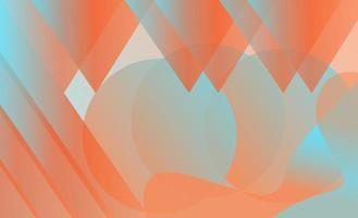 Blaues und orange geometrisches Steigungsbild
