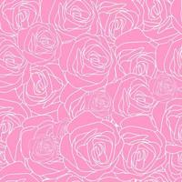 Gezeichnetes Muster der Rosarose Hand vektor