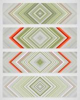 Bunter Satz von vier Linie Muster, Vektorillustration