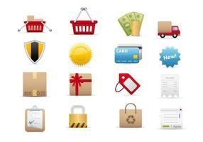 E-handel vektor ikon pack