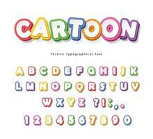 Tecknade ljusa teckensnitt för barn.