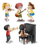 Kinder mit musikalischen Talenten vektor