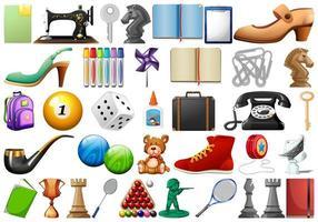 Reihe von zufälligen Objekten vektor