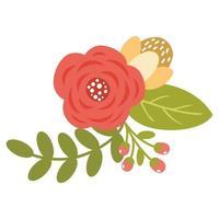 blommande vårsöta blommor vektor