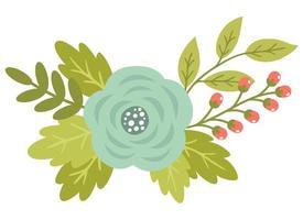 Nette Blumen des Frühlinges mit antiken Rosen und Niederlassungen