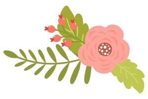 blühende niedliche Frühlingsblumen von antiken Rosen