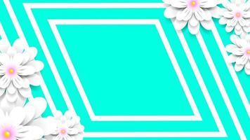 Dekorative Papierblumen mit weißem Rand vektor