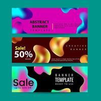 Uppsättning abstrakta moderna grafiska flytande banners