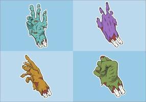 zombie handuppsättning vektor