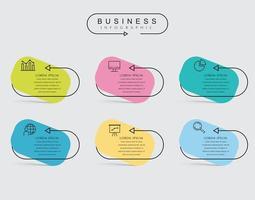 Infographic tunn linje designmall
