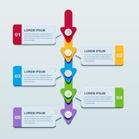 Infographic mall för presentationsverksamhet