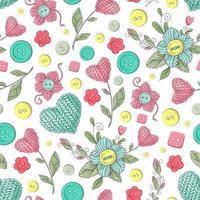 Handgemachte gestrickte Blumen des nahtlosen Musters