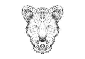 Baby Lion hand dras illustration