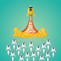 Raketenstart-Startidee
