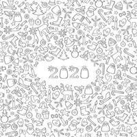 Gruß des Weihnachtsneuen Jahres 2020 vektor