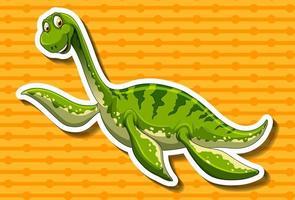 Grön dinosaurie med lång hals