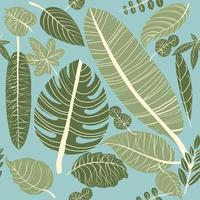 Sömlösa mönster tropiska blad