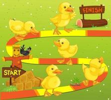 Spielschablone mit Enten im Bauernhof