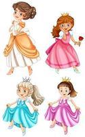 Reihe von hübschen Prinzessinnen vektor