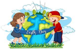 Ein Tag der Erde-Symbol vektor