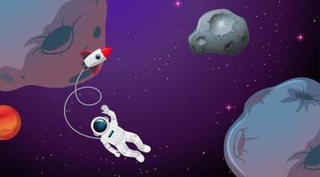 Ein Astronaut im Weltraum vektor