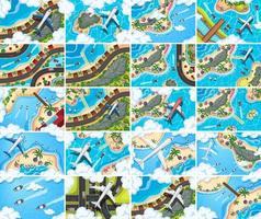 Reihe von Luftbild-Szenen