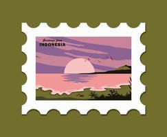Grüße von der Indonesien-Postkarten-Illustration
