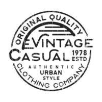 Lässige Vintage Briefmarke vektor
