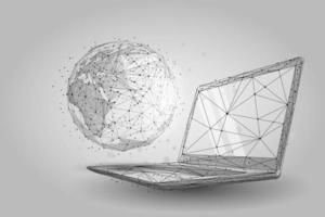 Planet Earth på bärbar datorskärm