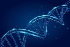 DNA-molekyl spiral spiral vektor