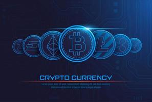 Cryptocurrency-Konzepthintergrund vektor