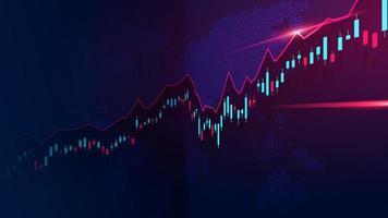 Aktiemarknad eller valutahandel graf