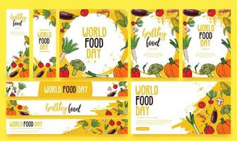 Lebensmittel Banner Vector Pack