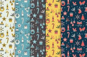 Vintage jul sömlösa mönster