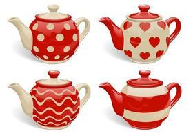 Teekanne Vektor festgelegt