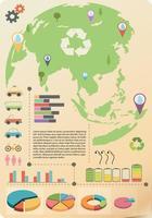 Eine Infografik der Erde