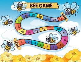 Brettspielschablone mit dem Bienenfliegen