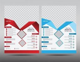 Företagsreklambladdesignmall vektor
