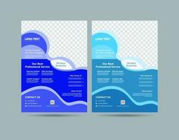 Geschäftsflüssigkeit Flyer Designs