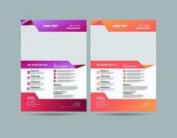 business flyer design vektor