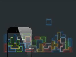 Smartphone Tetris-Spiel vektor