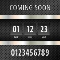 Demnächst Countdown-Timer vektor
