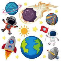 Uppsättning av rymdelement
