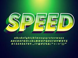 Grüne Schrift mit trendigen Design-Stil vektor