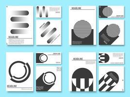 Minimaler geometrischer Designhintergrund für Druckprodukte
