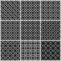 Nahtloser Hintergrund des Schwarzweiss-Kreuzes vektor