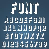 Ofullständig design för alfabetsteckensnitt vektor