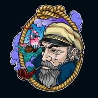 färg kapten porträtt